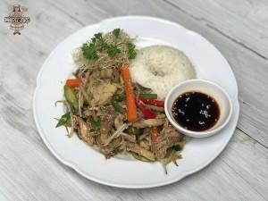 Chapsui mixto con arroz